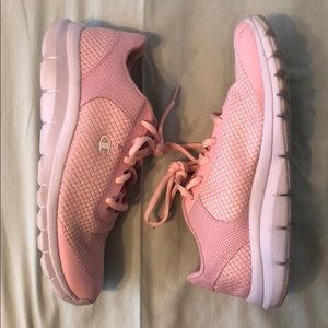 Champion light pink sneakers size 8